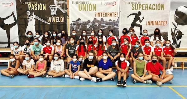 entrenamientos salesianos trinidad voleibol infantil